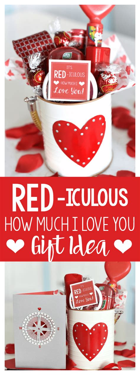 109 of the best valentines day gifts for him. Cute Valentine's Day Gift Idea: RED-iculous Basket