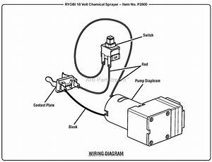 Homelite P2800 18 Volt Chemical Sprayer Mfg  No  107270001 Parts Diagram For Wiring Diagram