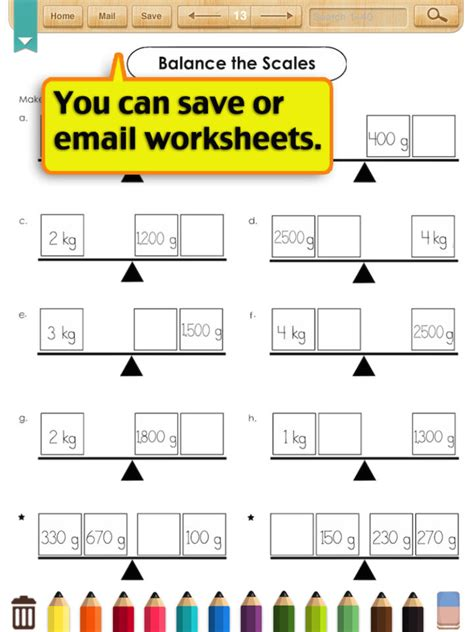 math measurement worksheets for kindergarten free