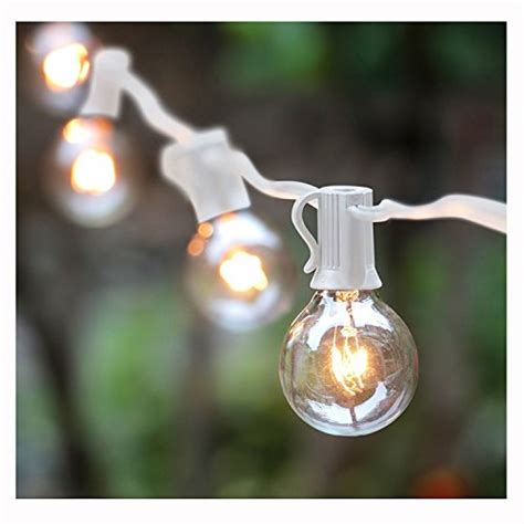 g40 string lights with 25 globe bulbs ul listed for indoor