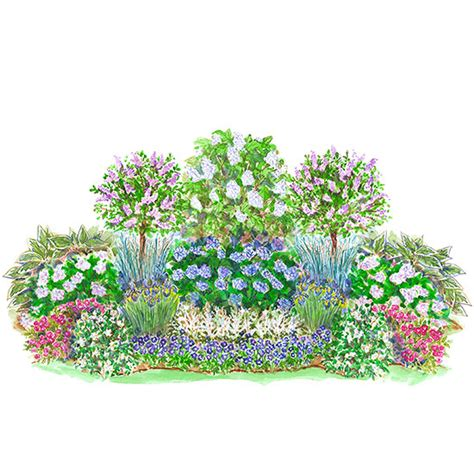 easy care summer blooming shade garden plan garden