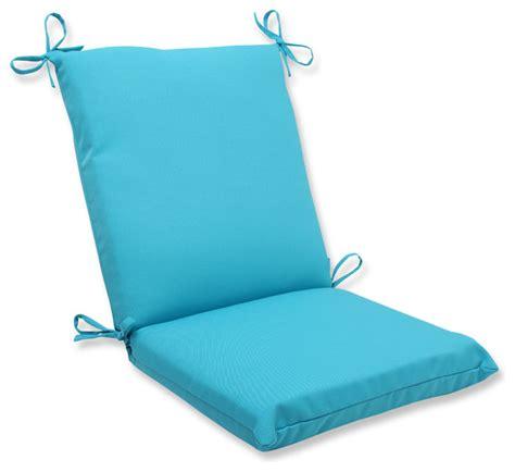 veranda turquoise squared corners chair cushion tropical