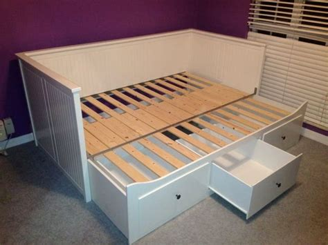 New Ikea Hemnes Daybed Frame With Trundle And 3 Large