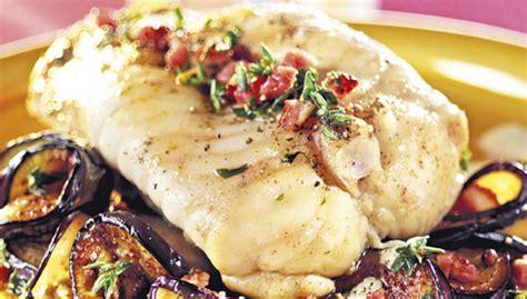 cuisiner queue de lotte recette gigot de queue de lotte aux aubergines facile pour
