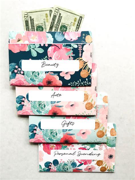 editable floral horizontal cash envelopes printable