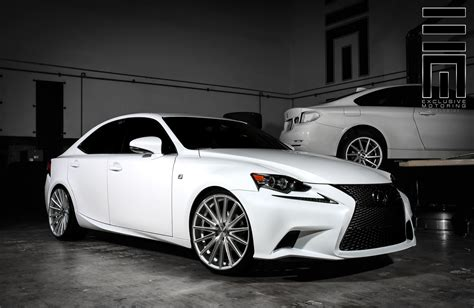 lexus is 250 custom white lexus is250 f on vossen rims by exclusive