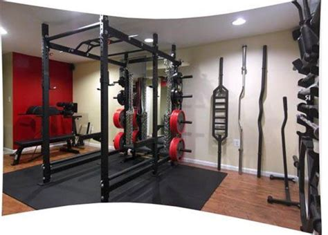 rogue fitness garage rogue r6 rack with every possible specialty bar imaginable