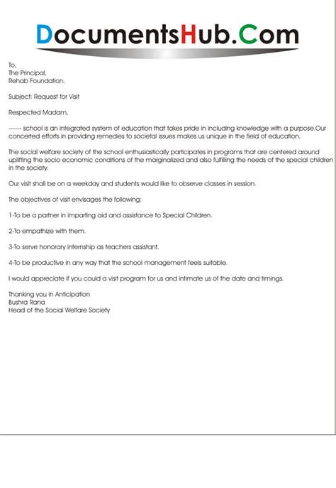 letter  field trip request documentshubcom
