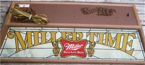 miller lite pool table light vintage 1983 miller time miller high life beer pool table