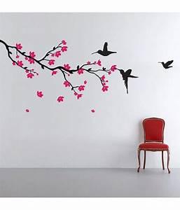StickersKart hummingbirds and blossoms print PVC Wall