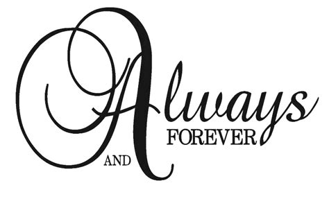 Always And Forever wall stickers 187 archive 187 always and forever