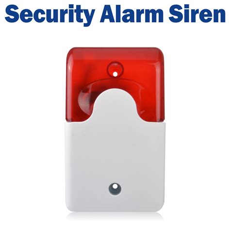 free shipping mini strobe siren 12v security alarm siren wired flash sound alarm ad 103 satcus