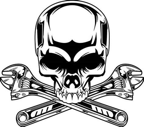 mechanic clipart black and white mechanic logo 2 skull wrench crossed engine car auto