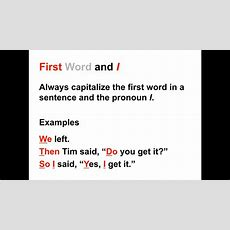 Capitalization Lesson  When To Capitalize In The English Language Youtube