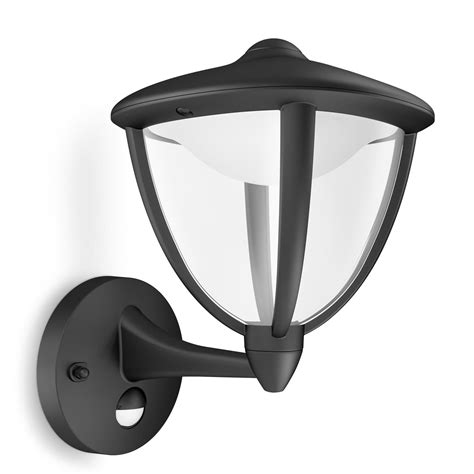 philips mygarden robin outdoor led wall lantern with