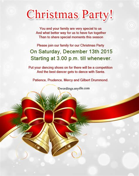 Christmas Party Invite Wording Shilohmidwifery com