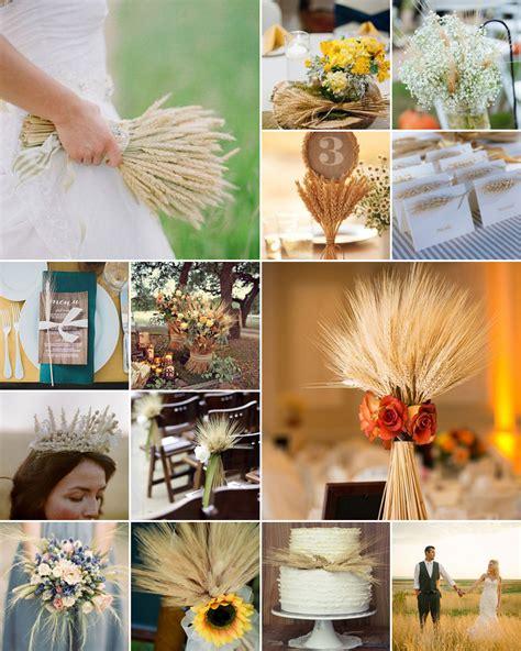 wheat wedding ideas