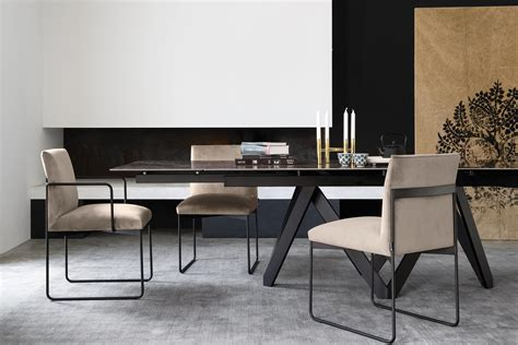cartesio extendable geometric pedestal base table
