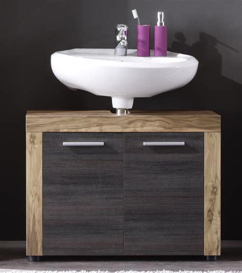 meuble sous lavabo contemporain 2 portes ch 234 ne gris fonc 233