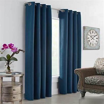 Curtains Window Teal Grommet Panel Darcy Dark