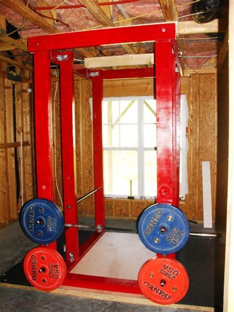 rack power homemade gym workout equipment platform wood weight lat diy build daddy tower log storage own racks bodybuilding pipe
