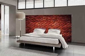 Tete De Lit Rouge : t te de lit brique rouge motif industriel mds ~ Teatrodelosmanantiales.com Idées de Décoration
