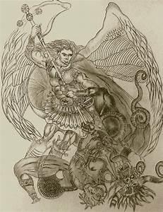 Archangel Michael vs Lucifer by HUNTERIV on DeviantArt