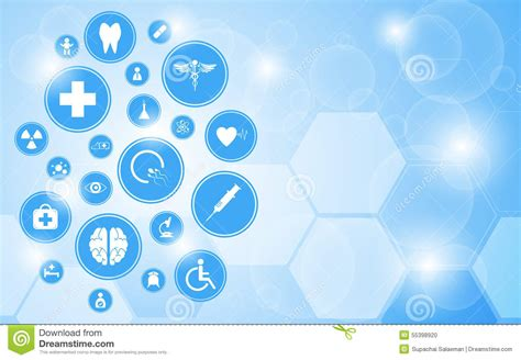 vector medical health care icon concept background stock