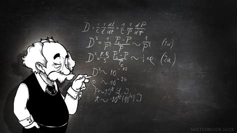 Albert Einstein Physics Chalk Board Math wallpaper