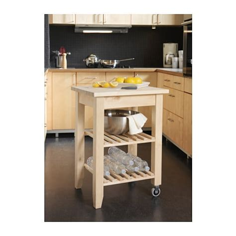 kitchen cart butcher solid wood rolling table block island