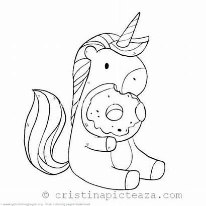 Unicorn Coloring Pages Colorat Horse