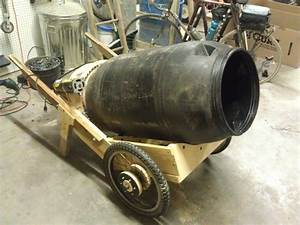 Make A Mobile Cement Mixer From A Pickle Barrel