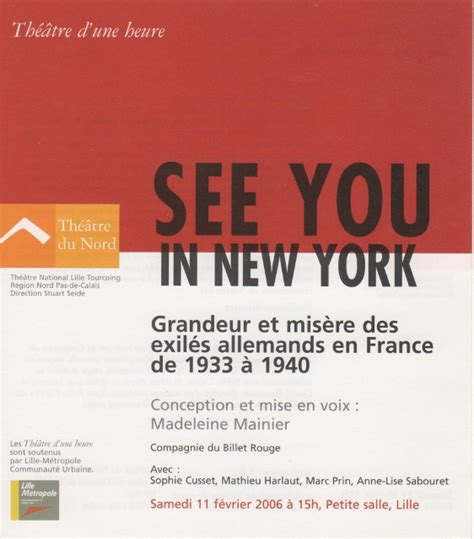 Cv Exles Francais by Madeleine Mainier See You In New York