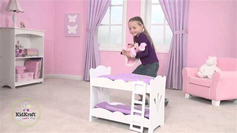kidkraft dollhouse toddler bed kidkraft lil doll bunk bed 60130