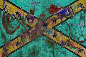 Gone With The Wind Old Confederate Flag Painting On