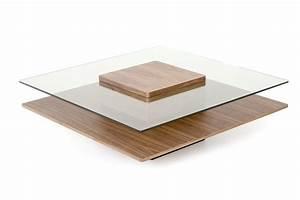 Table Basse Bois Et Verre : table basse carr e ~ Teatrodelosmanantiales.com Idées de Décoration