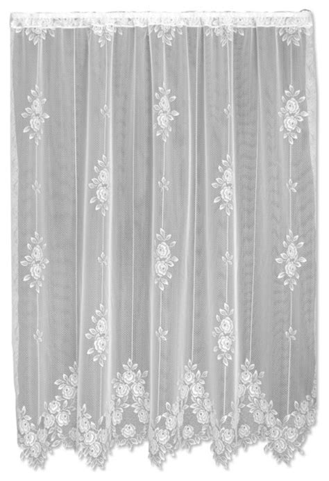 Tea Rose Panel - Victorian - Curtains - by Heritage Lace