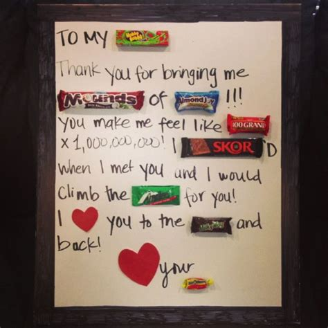 candy gram    husband   anniversary