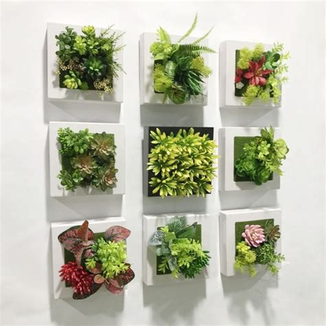 Beautify your yard while creating instant privacy in minutes, with our the amazing lifelike leaves are blooming from the basket or the wall. 20*20cm Artificial Succulent plants plastic Ferns green ...