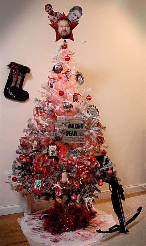 my christmas tree died maybe this will be our theme tree this year only rick is going to be the topper duh