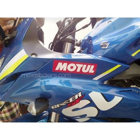 custom motul logo sticker  suzuki gixxer sf car