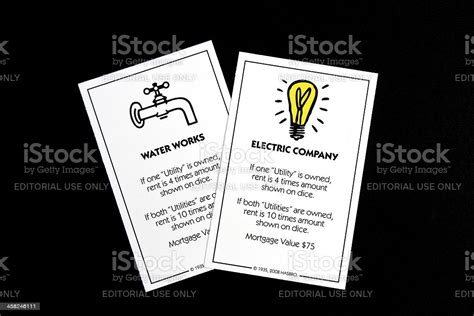 Important acquisitions during this period included the california telephone and light company, the western states gas and electric company and the sierra and san francisco power company, which provided hydropower to san francisco's streetcars. Monopoly Utility Company Game Cards Stock Photo - Download Image Now - iStock