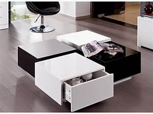 Table Basse Noir Laqué : table basse vente unique table basse carmen prix 199 99 euros ~ Teatrodelosmanantiales.com Idées de Décoration