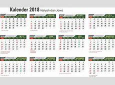 Kalender 2018 Jawa PDF, Excel, Word Kalender 2018