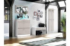 Meuble D Entrée Vestiaire : meuble entr e vestiaire design cbc meubles ~ Teatrodelosmanantiales.com Idées de Décoration
