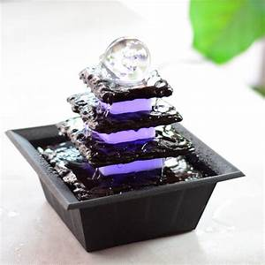 Feng Shui Water Fountain for Home and Office with LED
