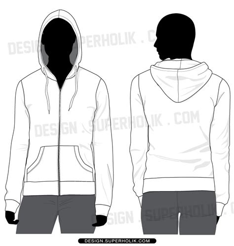Hoodie Template Fashion Design Templates Vector Illustrations And Clip