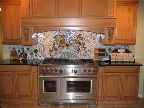custom kitchen backsplash tiles custom painted mosaic backsplash traditional 6346