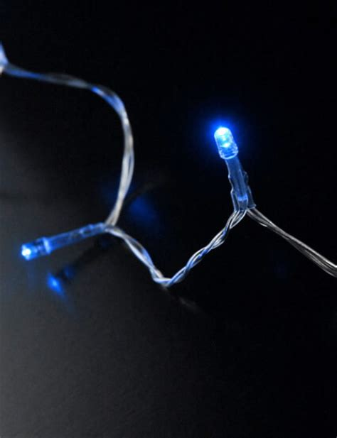 led lights clear wire30 blue led battery operated 130 quot