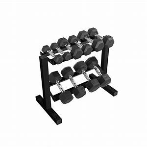 Cap 150 Lb Coated Hex Dumbbell Weight Set  5-25 Lb With Black Rack